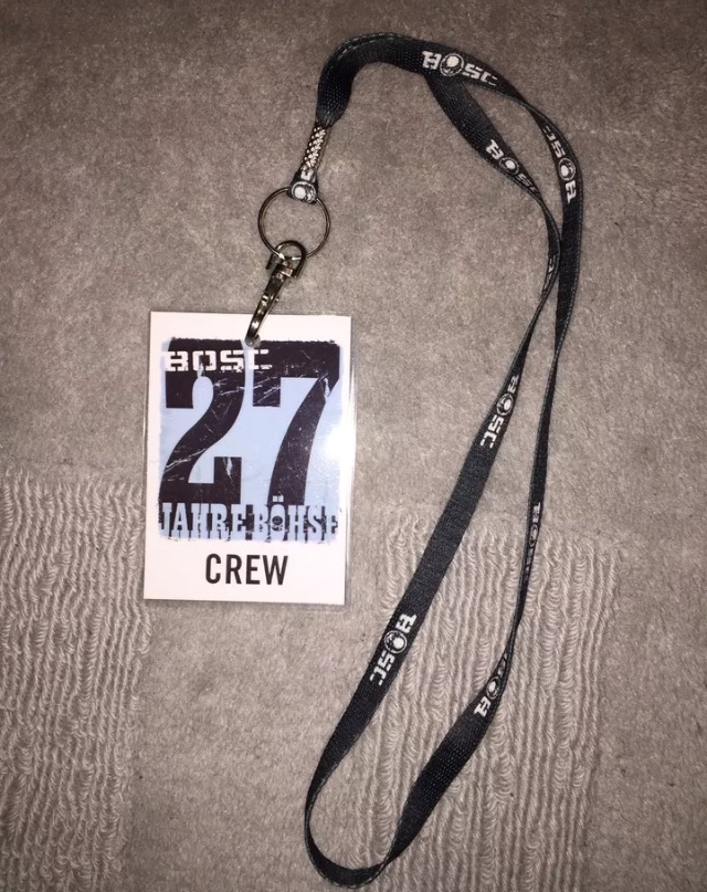 Backstage Pass 27 Jahre Böhse