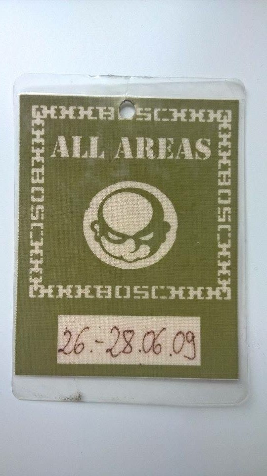 Backstage Pass B.O.S.C. Onkelz Non Stop 2009